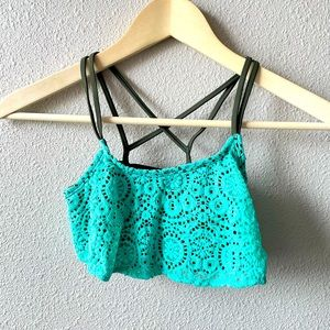 Girl's Gossip Girl Lace Strappy Bathing Suit Top